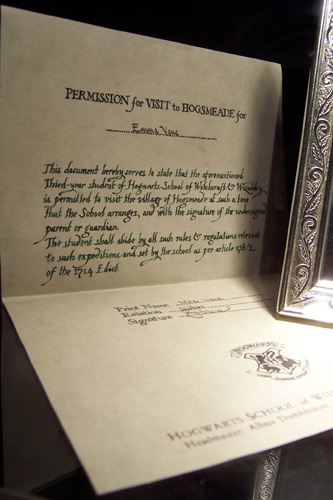 Permission Visit Hogsmeade Original
